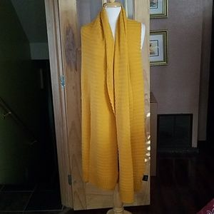 Mustard colour scarf